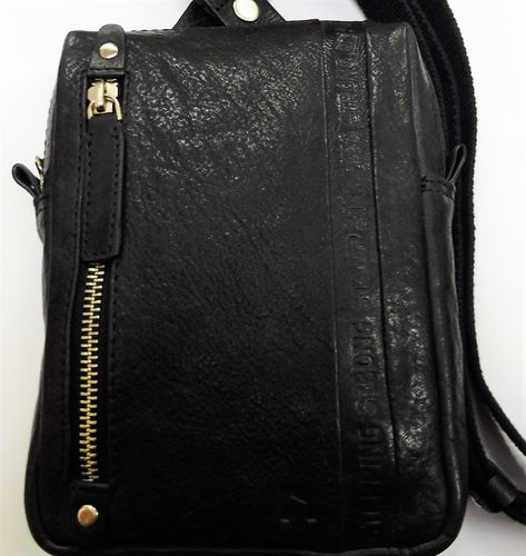 BOLSO DE PIEL STEPPING STRONG STAMP NEGRO