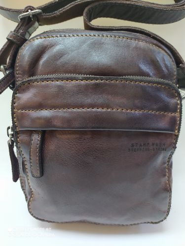 BOLSO CABALLERO STAMP WASH  MARRON OSCURO
